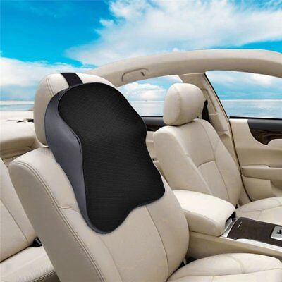 Car Seat Headrest Pad Memory Foam Pillow Head Neck Rest Support Cushion Black