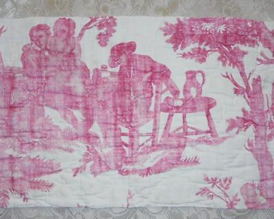 NEW AUTUMN STOCK, RARE 18th CENTURY FRENCH LINEN TOILE DE JOUYc1790 117.