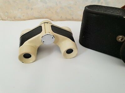 Vintage Old Opera Binoculars With case Made In USSR