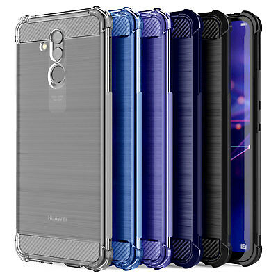 Huawei Mate 20 Lite Carbon Fibre TPU Silicone Gel Case Protection Phone Cover
