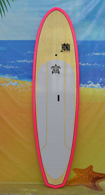 Stand up Paddle - SUP board 9'8  + fins + Paddle : Bamboo finish top