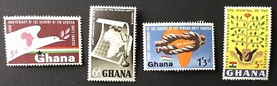 Ghana 1964 1st. Anniversary of African Unity Charter  SG339/42 Mtd.Mint