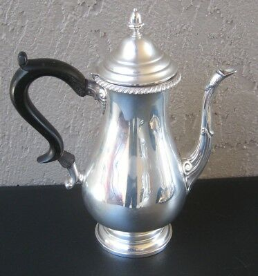 "Antique GWD Graff Washbourne & Dunn Sterling Silver Coffee Pot 9.5"" tall 633 g"