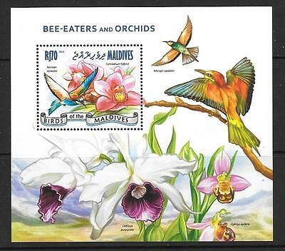 Maldive Islands 2014 Bee-Eaters And Orchids Mnh