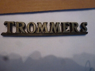 VINTAGE 1940 / 50's TROMMER'S BEER,METAL SIGN LOGO,BROOKLYN,NY, USA SHIPS FREE