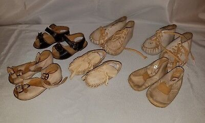 Antique Vintage Mixed Lot of Infant / Baby / Toddler Shoes-Leather, Suede, etc.