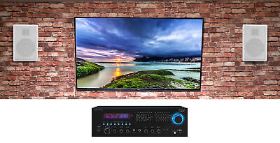 """Technical Pro RX55URIBT Home Theater Bluetooth Receiver+(2) 5.25"""" White Speakers"""
