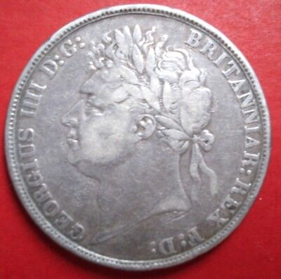 George IV 1822 Silver Crown in a good used condition