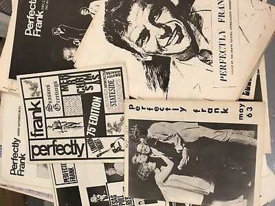 Lot Of 20 Perfectly Frank Magazines Fanzines  From 60's Frank Sinatra