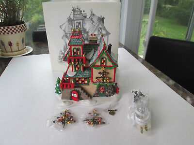 New Dept 56 Heritage Christmas Village North Pole Series Glass Ornament Works 28