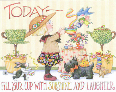 TODAY FILL YOUR CUP-Handcrafted Fridge Magnet-Using art by Mary Engelbreit