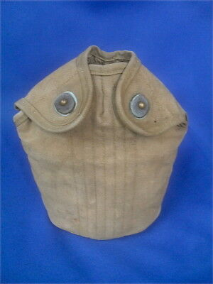 WWII US Army M-1942 Drinking Water Canteen Light Khaki Canvas Cover, Original