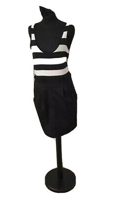 New Girls Ladies H&M Black White Pencil Style Dress Size Small UK 8-10 BNWOT
