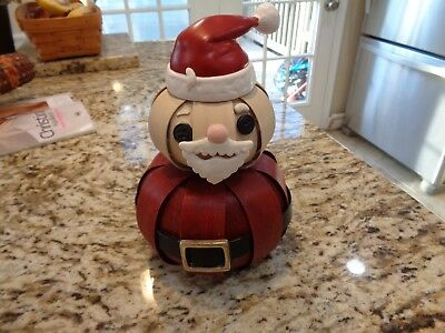 Longaberger Rare Santa Belly Figure Red White Weave -Hard To Find This One