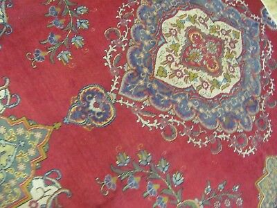 A SUPERB OLD HANDMADE PART OF A TABRIS ORIENTAL RUG (275 x 290 cm)