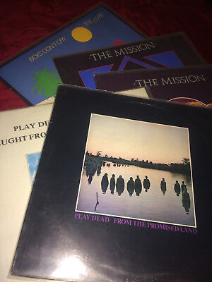 2x Play Dead LP + 2x The Mission: tower of strength + The Cure: boys don't cry