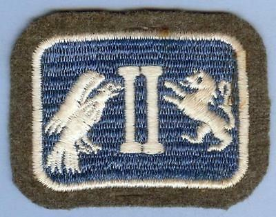 US Army 2nd Corps Patch on Wool, late 1930s-early WWII