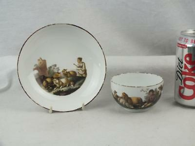 Fine 18Th C Meissen Marcolini Mark Porcelain Figures Sheep Cup And Saucer