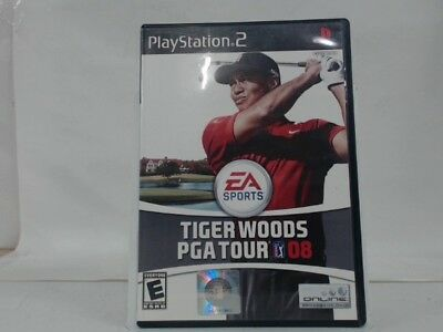 TIGER WOODS PGA TOUR 08 Playstation 2 PS2 Complete CIB w/ Box, Manual Good