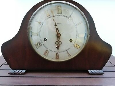 Vintage Smiths Large Dial Westminster & Whittington Mechanical Mantle Clock