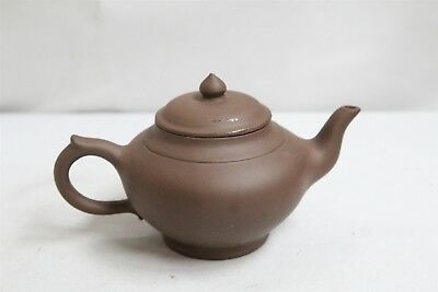 Vintage Chinese Yixing Traditional Genie Pottery Teapot Signed
