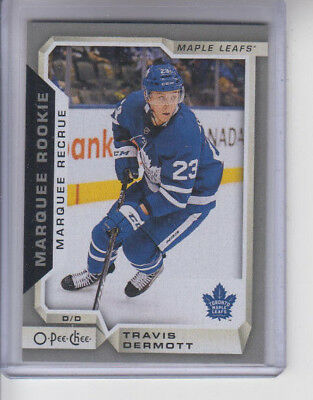 18/19 OPC Toronto Maple Leafs Travis Dermott Marquee Rookie Silver RC card #511