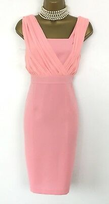 Pink Shift Dress Size 12 Used Wiggle Wedding Occasion Mother Bride Drape ET VOUS