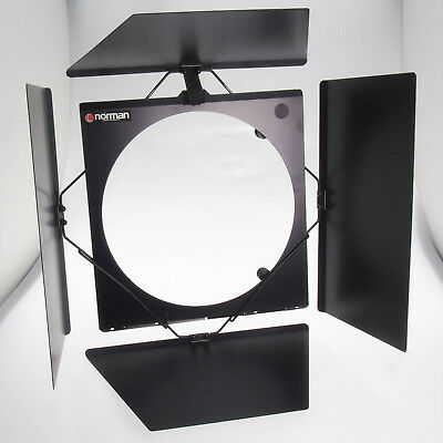 "Norman BD-410 Barn Door Set w Gel Holder - Use On 10"" Reflectors - LH2000 LH2400"