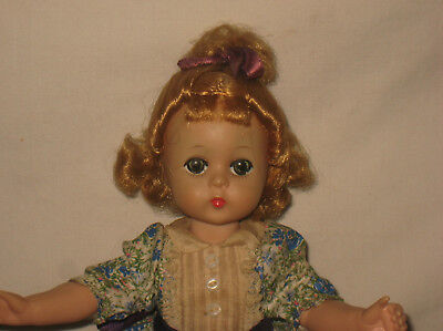 "1958 Madame Alexander 11.5"" HP Lissy Face Little Women's Amy Doll  MG5"