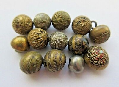 Lot of Antique~ Vtg Metal BUTTONS Diminutive Sizes, Ball Shapes, Sets+ (B4)