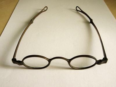 ANTIQUE PAIR OF GEORGIAN BRASS ENGINERED SPECTACLES c1820 - Rare!