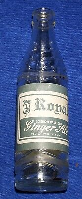 Rare Royal London Pale Dry Ginger Ale Paper Lable Bottle Philippines