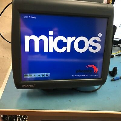 Micros Workstation 5A System Unit 400814-102 Touch Screen 8664BA