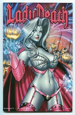 Lady Death Revelations #1 NAUGHTY Peek a Boo HOT PINK Variant Cover Mike Debalfo