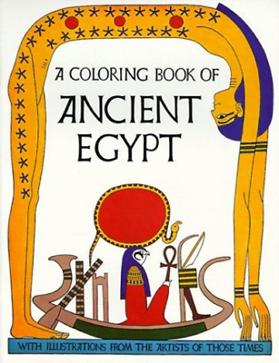 --Coloring Book Of Ancient Egypt BOOK NEW