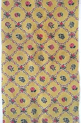 Lovely Late 19th / Early 20th C. French Printed Cotton Floral Fabrics (2462)