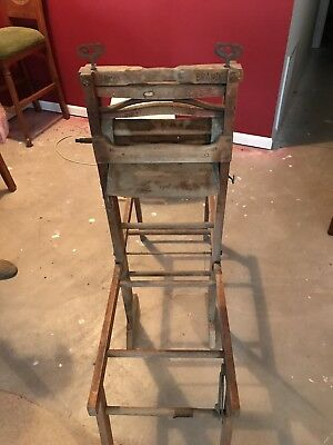 Antique Anchor Brand Clothes Wringer Folding Bench Lovell Manufacturing Co