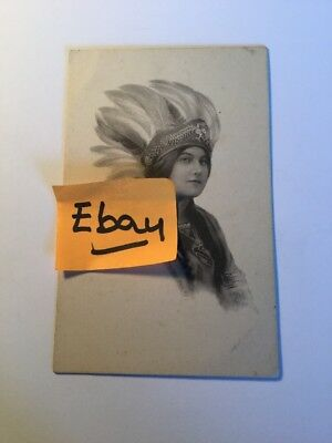 Old Postcard 1900's Indian Girl Woman Historical Rare Vintage( #1)