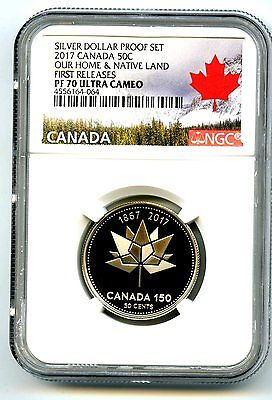 2017 Canada 150Th Anniversary Proof 50 Cent Ngc Pf70 First Releases Half Dollar