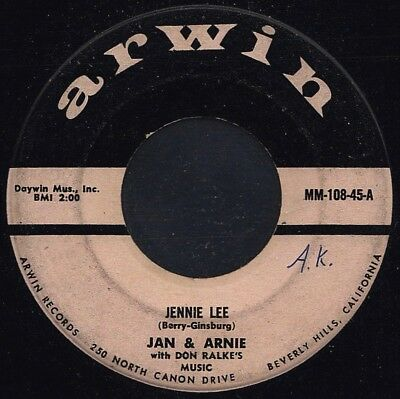 "JAN & ARNIE: Jennie Lee (´58 / v. rare orig. US Doo-Wop 7"" - JAN & DEAN)"