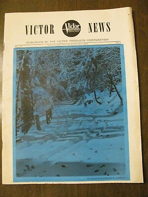 Vintage Victor News Magazine- Published by Victor Products Corp Hagerstown MD