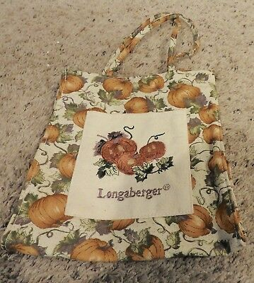 Longaberger Pumpkin Patch Canvas Tote Bag Euc