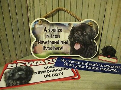 Newfie / Newfoundland - Signs, Bumper Sticker, and Ornament