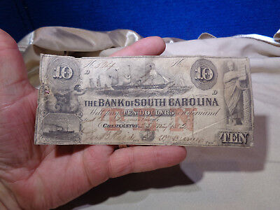 The Bank of the State of South Carolina $10 Note  1852