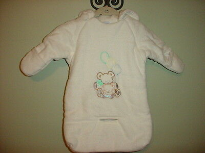 Baby Dove  Unisex Infant Baby Carbag Bunting Snowsuit Puffer White 0-12 Months