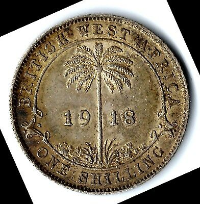 British West Africa - One Shilling, 1918 - Silver