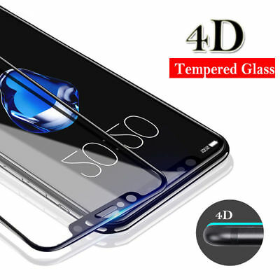 4D Curved Edge Tempered Glass for iPhone XS Max XR XS/X Screen Protector Cover