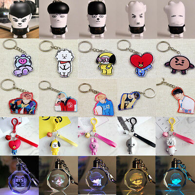 KPOP BTS Keyring KOOKIE Key Chain Bangtan Boys Love Yourself SUGA J-HOPE Lanyard