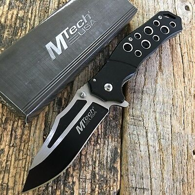 SPRING-ASSIST FOLDING POCKET KNIFE Mtech Black Blade Tactical EDC MT-A951BK-