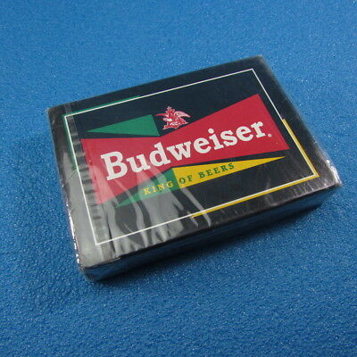 """Sealed Budweiser """"The King of Beers"""" Playing Cards Poker Deck"""